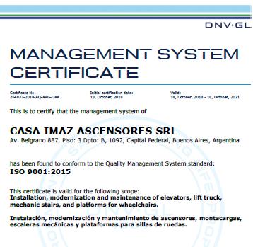 Celebramos nuestros 55 años certificando bajo la Norma ISO 9001!
